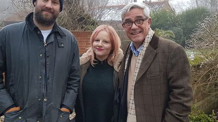 Andrew Jones and Hannah Springham with Gogglebox star Dom Parker, right. Pictures: Channel 4/ Freefo