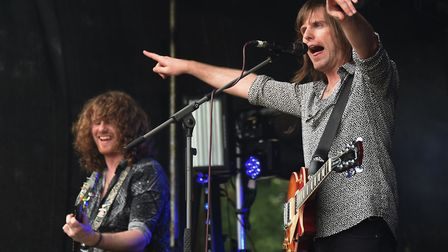 The Norfolk rock band Walkway play at the Reepham Festival. Picture: DENISE BRADLEY