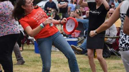 Dancing to the music at the Reepham Festival. Picture: DENISE BRADLEY