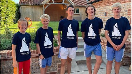 The sale of Growler T-shirts is partly funding the restoration of a historic sailing barge. Pictures