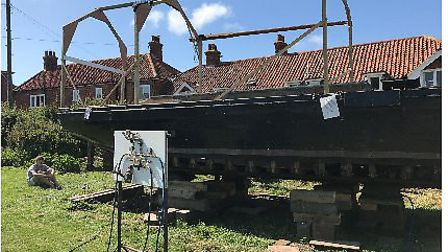 Work starts on historic sailing barge Growler. Pictures: Ash Faire Ring