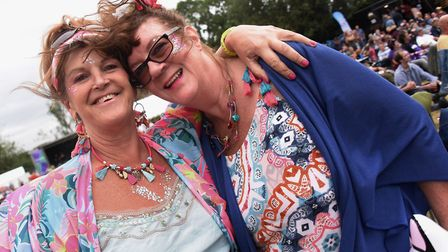 Tracy Dawson and Cathy Keeler from King's Lynn at the Reepham Festival. Picture: DENISE BRADLEY