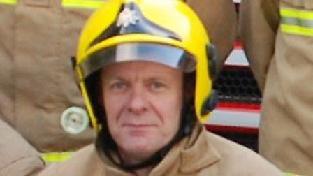 Ian Grand was a retained firefighter in Fakenham from 2007 and retired from fire service duties in 2