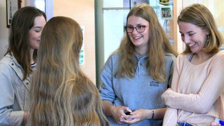 Students at Reepham High School and College celebrate their A-Level results. Picture: Reepham High S