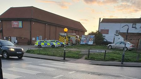 Emergency services were called to Fakenham following reports of a person suffering a seizure. Pictur