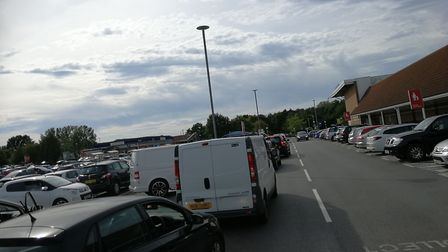 There is heavy traffic across Dereham following a crash and traffic light malfunction. Picture: Arch