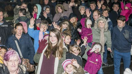 Scenes from Fakenham Christmas Lights switch on 2015 - The crowd. Picture: Matthew Usher.