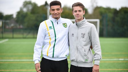 Norwich City pair Ben Godfrey (left) and Todd Cantwell have been called up to the England Under-21s