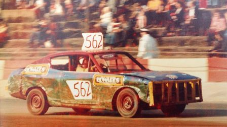 Dereham stock car racing legend Horry Barnes competing in the early-1970s. Picture: Submitted