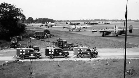 The 44th Bomb Group and its B-24 Liberators at Shipdham Airfield during the Second World War (1944).