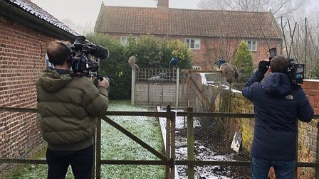 Behind the scenes during filming at the Dial House, Reepham. Pictures: supplied by Hannah Springham