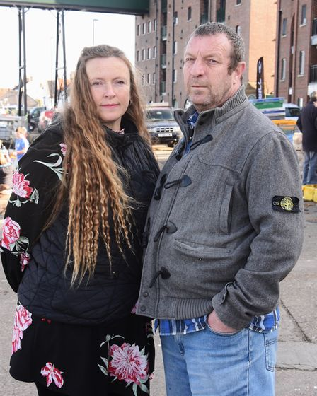 Paul and Clare Foskett from London, now living in Wells. They have been shocked by the disrespect sh