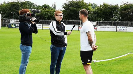 Pictured is the first day of filming for the documentary We Are Dereham. Picture: DTFC