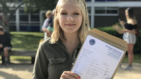 Big smiles all around as Northgate High School students get their GCSE results in. Picture: Ella Wil