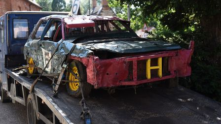 One of Horry Barnes' stock cars which was in the procession at his funeral at Dereham. Picture: DENI