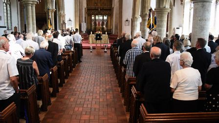 A full church for the funeral of stock car racing legend Horry Barnes at Dereham. Picture: DENISE BR