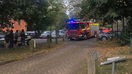 Workers at Breckland Business Centre in Dereham were evacuated as fire crews attended. Picture: Arch
