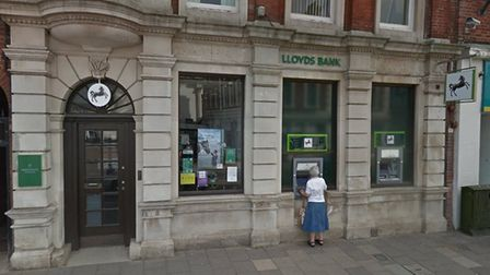 Emergency servcies rushed to the aid of a man in his 80s who suffered a cardiac arres at Lloyds Bank