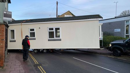 The mobile home which brought Fakenham to a stand still. Picture: Archant