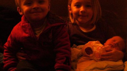 Ian's three children, Ben, Emma and Kathryn pictured at Christmas in 2010. Picture: Ian Needham