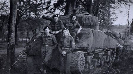 Second World War veteran Thomas Twite (front right), from Dereham, helped liberate much of Europe fr