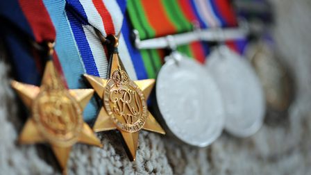 Thomas Twite's medals, awarded as a result of his efforts during the Second World War. Picture: Matt