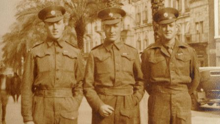 A photo of Thomas Twite (left) during the Second World War. Picture: Matthew Usher.