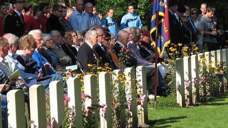 The Valkenswaard 70th anniversary remembrance service in September 2014. Picture: Bob Hindry