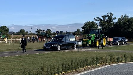 Scores of tractors were part of the funeral procession of Charlie Newson-Matthews, of Southburgh, No