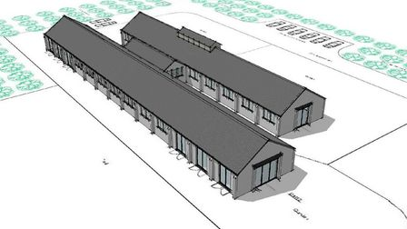 Former army buildings off Green Way in Stiffkey. Picture: Planning documents/ James Henman architect