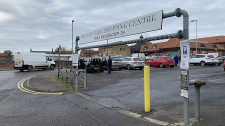 The entrance to the Miller's walk car park in Fakenham. Picture:Archant