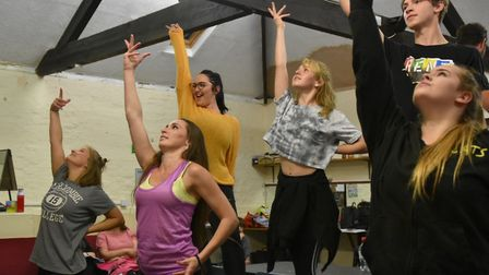Members of Dereham Theatre Company in rehearsal for Rent, which will be performed at Memorial Hall.
