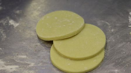 Pastry destined to become mince pies at Krusty Loaf in Fakenham. Picture: Stuart Anderson