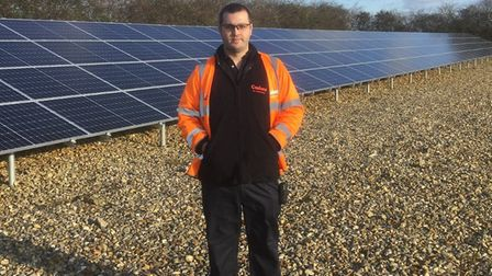 The new solar farm in Brisley, north Norfolk. Pictures: Cadent