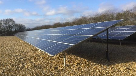 Cadent's new solar farm in Brisley. Pictures: Cadent