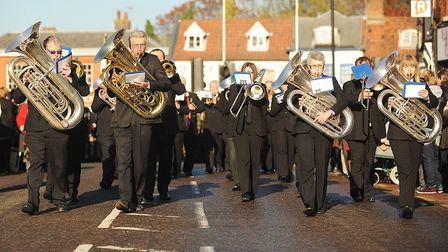 Pictures from a previous Remembrance Sunday ceremony held in Dereham. Picture: Archant