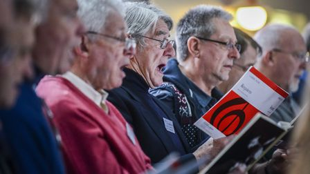 Fakenham Choral Society rehearse for their evening concert in aid of the Tapping House Hospice. Pict