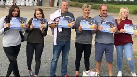 The Super 6 skydivers. Pictures: supplied by Diane Cross-Gower