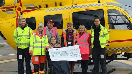 A cheque was handed over to the EAAA. Pictures: supplied by Diane Cross-Gower