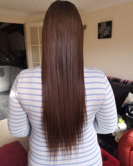 Kayleigh McKinnon, 29, a customer assistant at Fakenham pharmacy donated 17 inches of hair to The Li