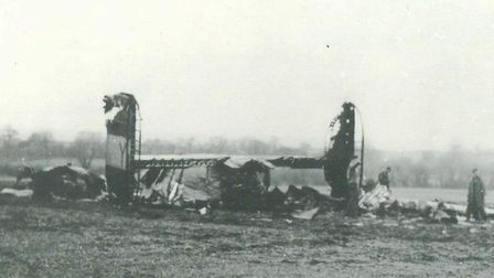 The wreckage of the crashed B-24 Liberator bomber. Pictures: supplied by Nigel Crossland