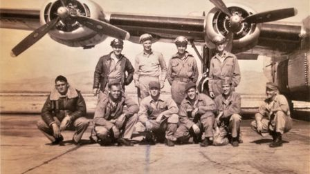 The berlin-bound crew of the B-24 Liberator bomber. Pictures: supplied by Nigel Crossland