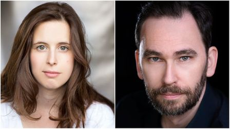 Amy Lunn and Marcus Churchill star in Twas the Night Before Christmas at the Wells Maltings. Picture