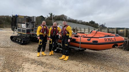 Two people were rescued by the Wells lifeboat. Picture shows inshore lifeboat crew Jim Heasman (helm