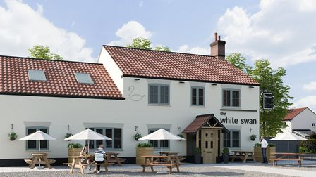 An artist's impression of what The Swan in Gressenhall could look like following a £150,000 redevelo