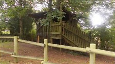 Plans to revamp playground area at Gressenhall Rural Life Museum. Photo of existing play equipment t