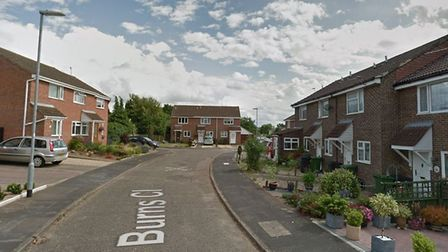 Firefighters attended a fire in Burns Close, Dereham. Picture: Google StreetView