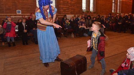 A traditional Victorian Christmas at Gressenhall, Jack and the bean stalk pantomime. Pictures: Britt