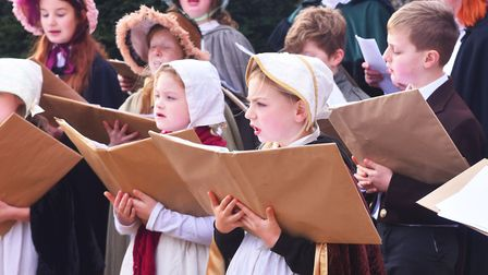 A traditional Victorian Christmas at Gressenhall, Carol Singers. Pictures: Brittany Woodman