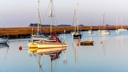 Buoys and Boats at rest on a calm day in Wells Channel. Picture: Richard Brunton